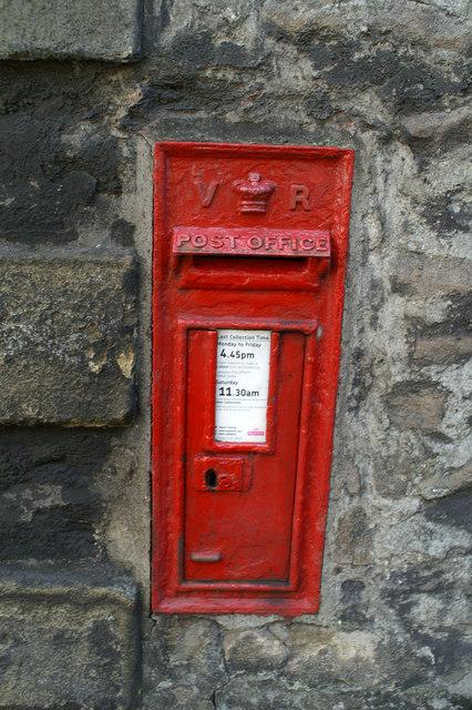 Victorian Post Box, opposite Halton Church