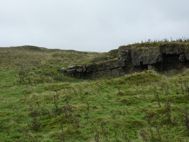 Rock outcrop on Longstone Moor