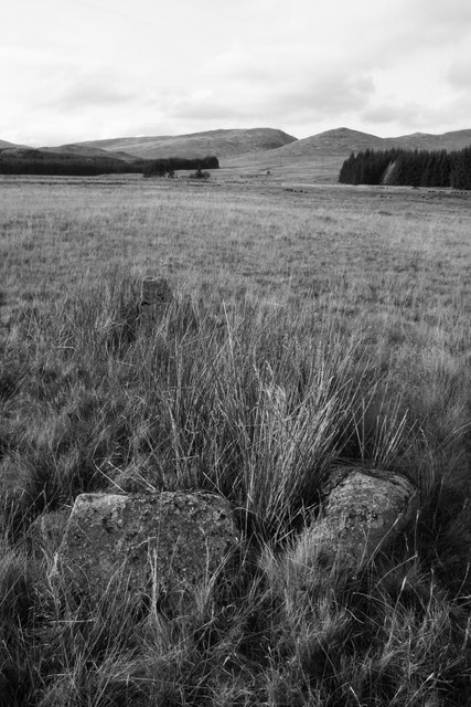 Clach Chathail standing stones near Melgarve
