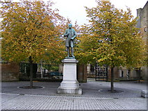 NS6065 : James White Of Overtoun Statue in Cathedral Square Glasgow by PAUL FARMER