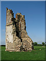 TF9021 : Remains of the ruined All Saints church at Godwick by Evelyn Simak