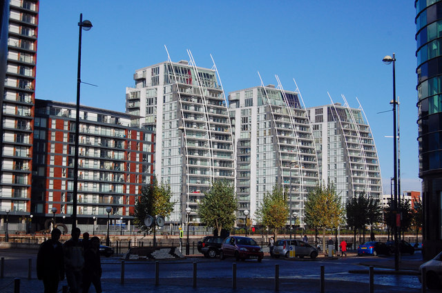Flats at Salford Quays