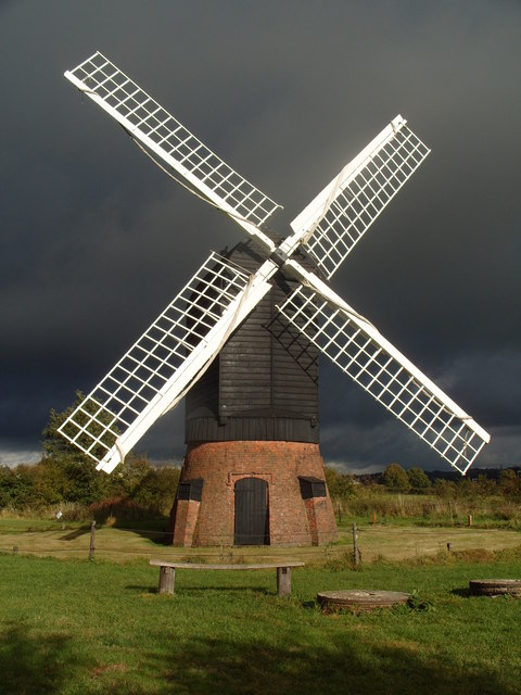 Windmill at Avoncroft Museum of Historic Buildings