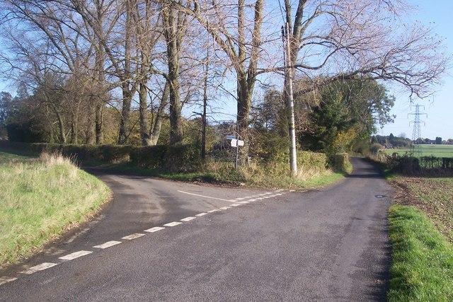Road junction on Shottenden Road