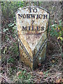 TG1316 : Old Milepost by Keith Evans