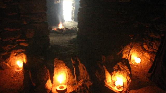 Lighting Inside An Iron Age House