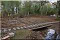 SU2705 : Warwickslade Cutting: bridging the new stream by Peter Facey