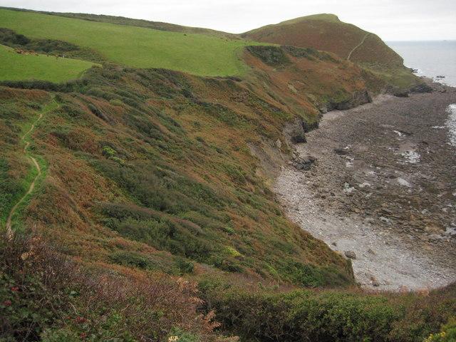 Coast path above Tremoutha Haven