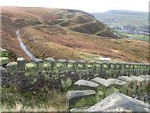 SE0511 : Blackmoorfoot Conduit towards Hard Hill above Marsden by Chris Wimbush