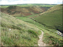 SX0485 : Valley above Backways Cove by Philip Halling