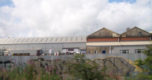 Engineering Works alongside the Dublin to Belfast railway line