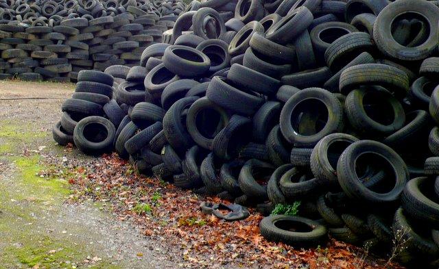 Stacks of Scrap Tyres, Ashfield