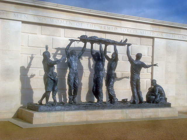 Statue at the Armed Forces Memorial