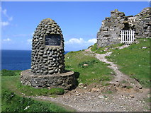 NG4074 : Memorial at Duntulm Castle by John Proctor
