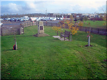 SK1814 : The Chindit Memorial and the arboretum car park by Trevor Rickard
