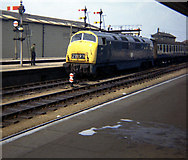 """SX9193 : """"Caradoc"""" enters Exeter St Davids Station. by Tim Marshall"""