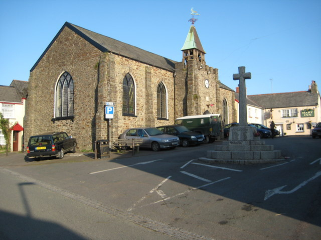 Church in the centre of Hartland