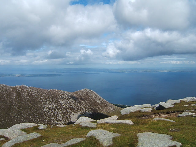 From summit of Goatfell