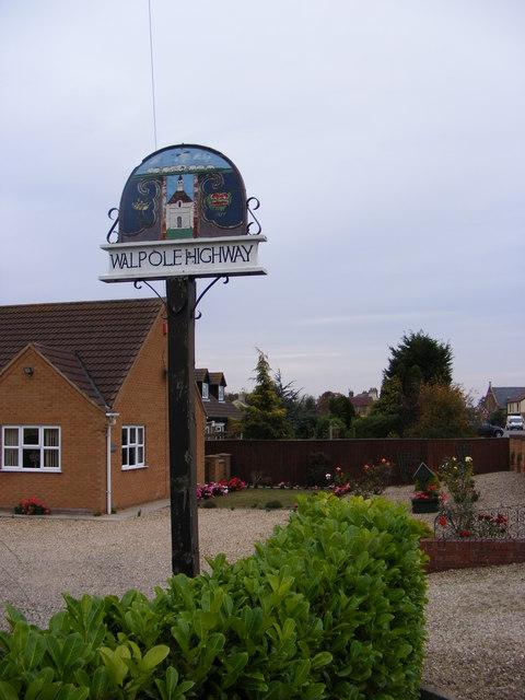 Walpole Highway Village Sign