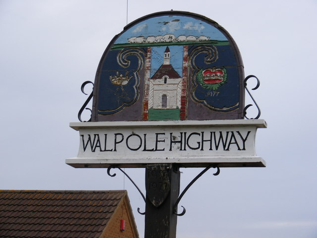 Walpole Highway Village Sign
