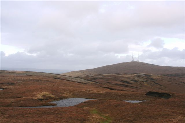 Lochan at the Ord with South hill on left and blackhill in centre