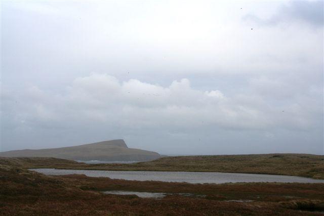 Lochans on the Bard , looking towards Noss