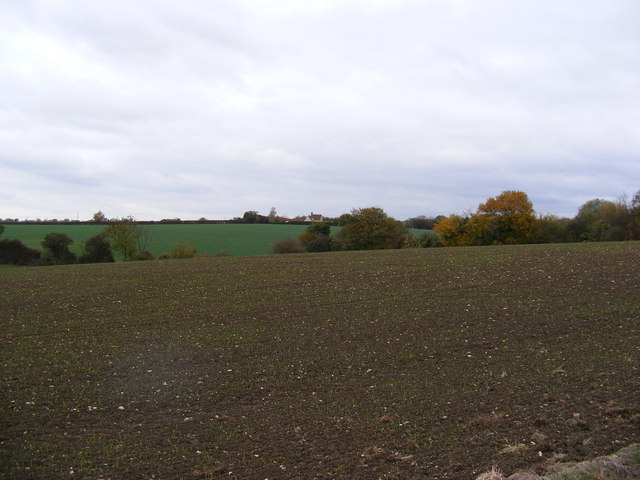 View towards the A1120 Button's Hill