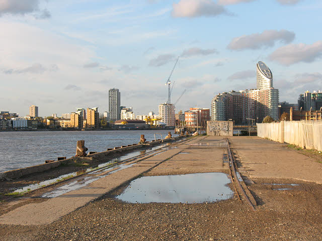 Old dock crane rails, Greenwich Peninsula