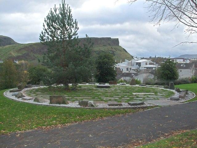 Stone Circle in Regent Road Gardens