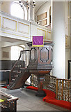 TQ2880 : Grosvenor Chapel, South Audley Street, Mayfair - Pulpit by John Salmon