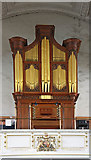 TQ2880 : Grosvenor Chapel, South Audley Street, Mayfair - Organ by John Salmon