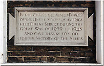 TQ2880 : Grosvenor Chapel, South Audley Street, Mayfair - Memorial WWI by John Salmon