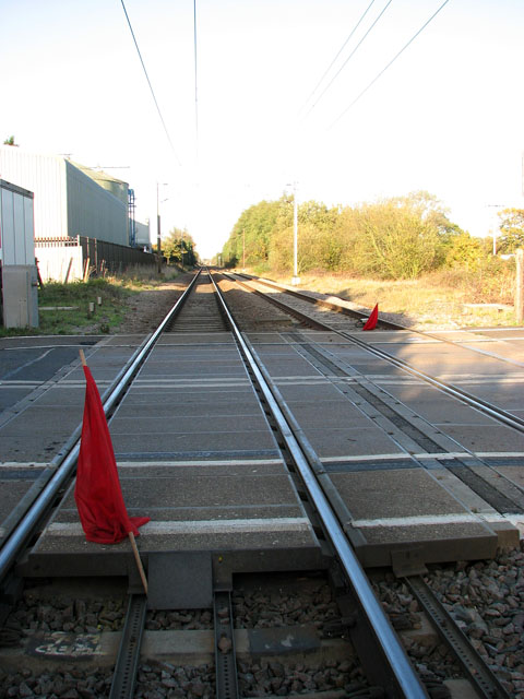 Red flags on the railway line