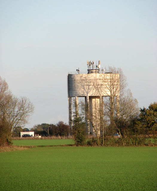 Water tower beside the A140