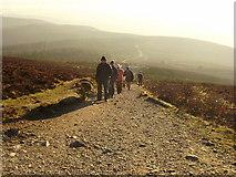 SJ1662 : The last ascent up Moel Famau by Eirian Evans