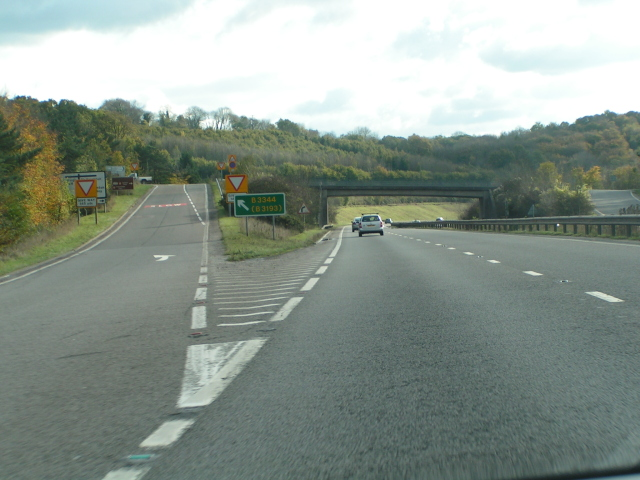Junction for Chudleigh on the A38 west-bound
