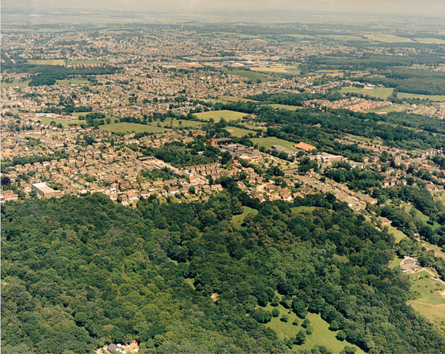 Aerial view of Thundersley Glen and Thundersley
