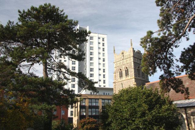 Redundant church and rejuvenated apartments