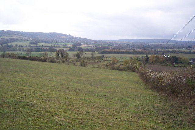 View from Polhill Bank across to Otford