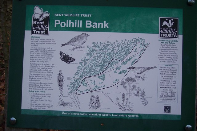Polhill Bank Nature Reserve Information Board