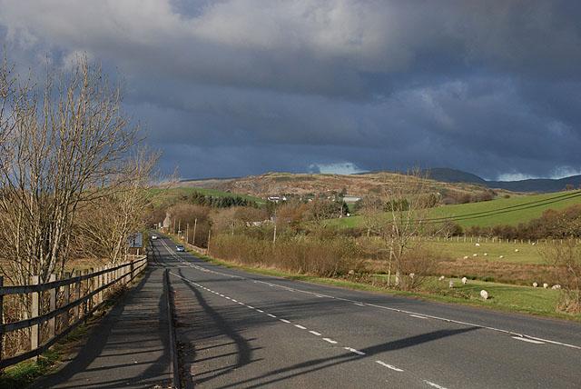 The A470 south of Trawsfynydd