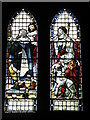 NZ0461 : Bywell St. Andrew - stained glass window by Mike Quinn