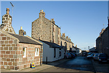 NJ9505 : Alley at the rear of North Square, Footdee by Bill Harrison