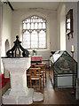 TM0682 : St Andrew's church - C12 baptismal font by Evelyn Simak