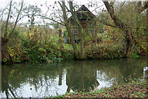 SP3365 : Allotments beside the River Leam, Newbold Comyn Park by Andy F