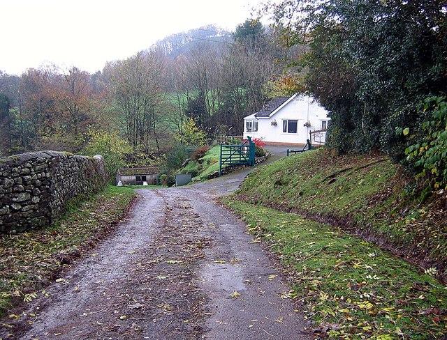 Lane approaching Waterfoot Park