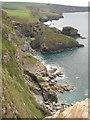 SX0382 : Cornish coast from above Crookmoyle Rock by Philip Halling