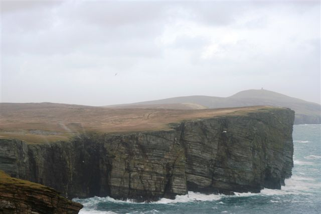 The hole of Bugars with waterfall blowing up with SE gale
