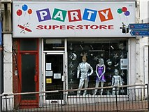 TQ2775 : Party Superstore Fancy Dress Shop on Lavender Hill by tristan forward