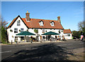 TM4497 : The Crown Inn in Beccles Road (A143) by Evelyn Simak
